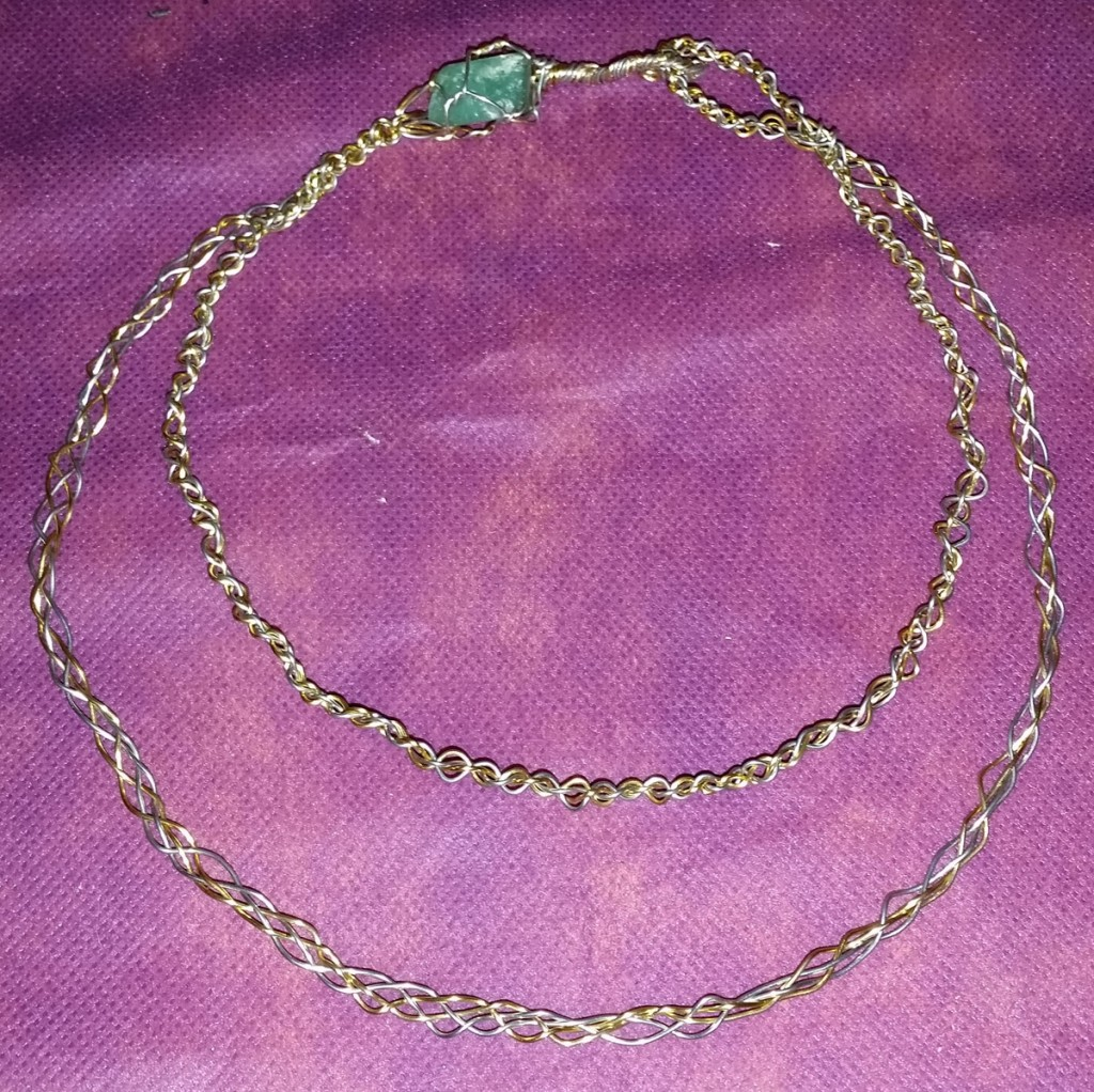 Two Tiered Wire Braided Torc