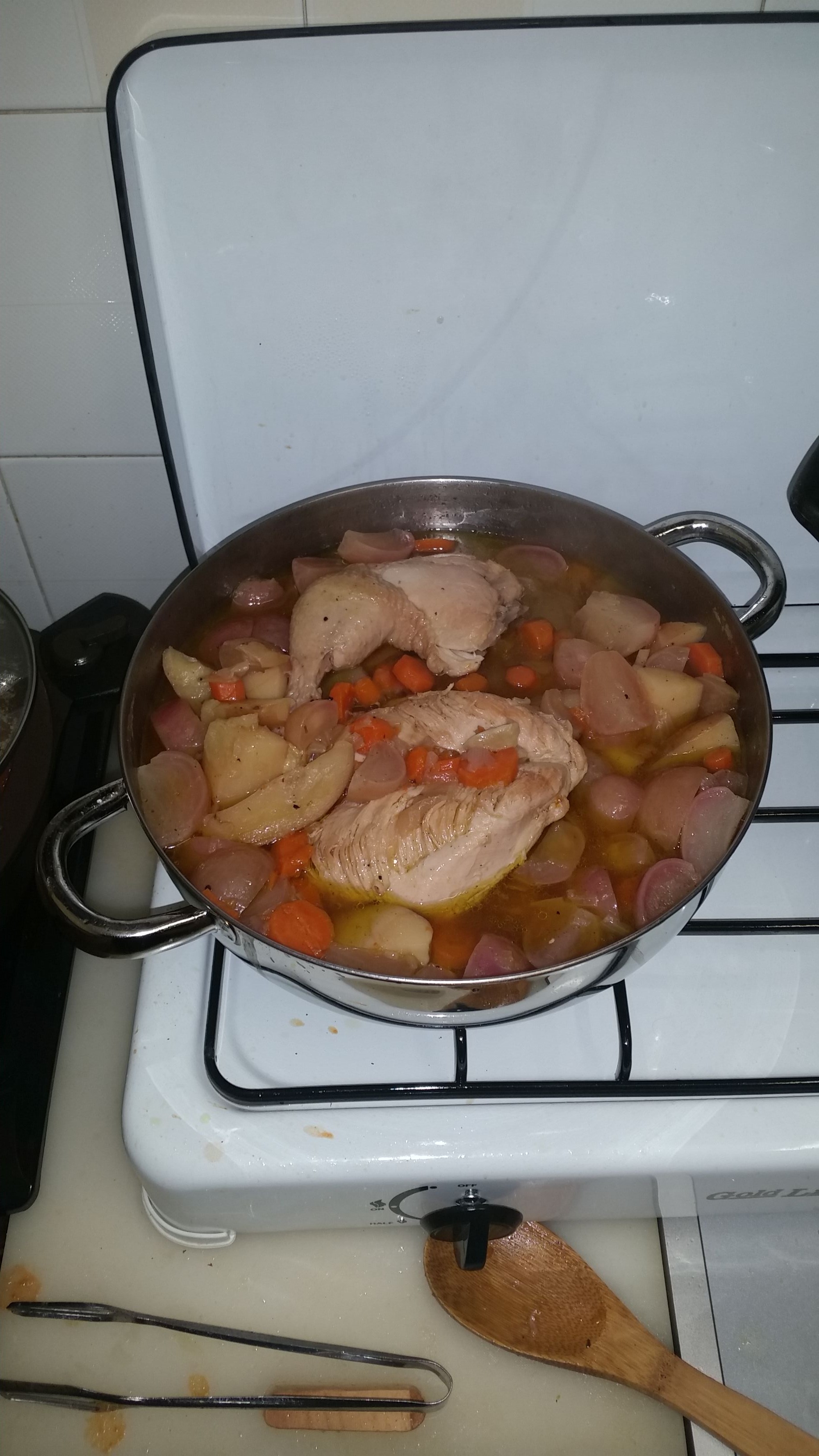 Chicken and Red Radishes Stew