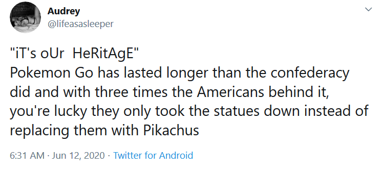 Pokemon Go lasted longer than the confederacy